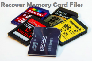 recover card files